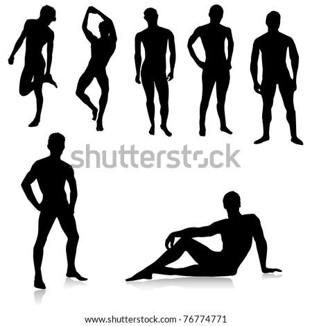 stock vector nude male silhouettes vector 76774771 Bikini Wax Risks vs Rewards