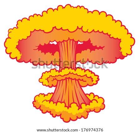nuke explosion orange red