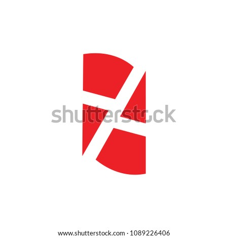 number 77 abstract design logo