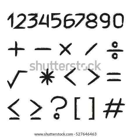 number and math symbols #527646463