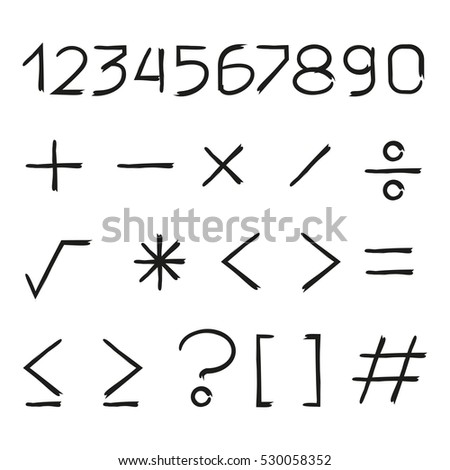number and math symbols #530058352