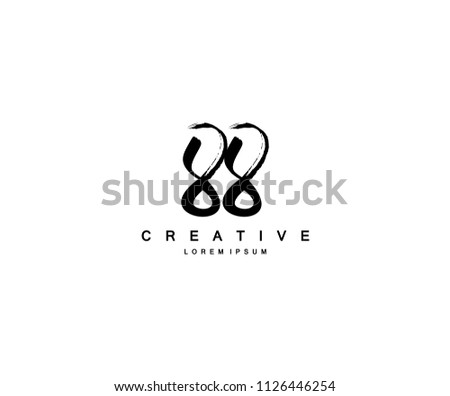 Number 88 Brush Artistic Logo Icon