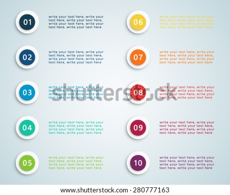 Number Bullet Points Vector 2