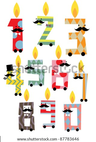 number candles vector/illustration