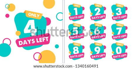 Number days left countdown vector illustration template Stock foto ©
