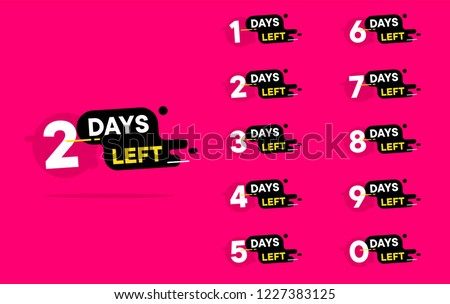 Number days left countdown vector illustration template, can be use for promotion, sale, landing page, template, ui, web, mobile app, poster, banner, flyer