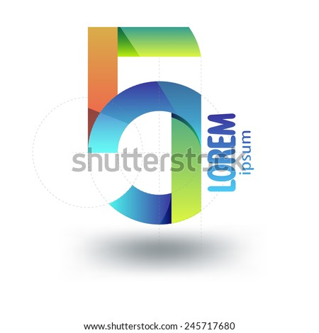 Number Five Logo Template. Abstract Icon. Stock Vector ...