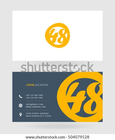number forty eight 48 logo