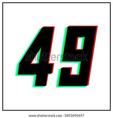 number 49  forty nine vector