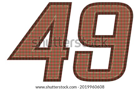 number forty nine with plaid