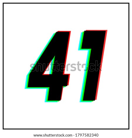 number 41  forty one vector