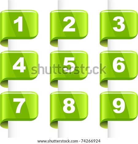 Number icon for page. Vector collection.