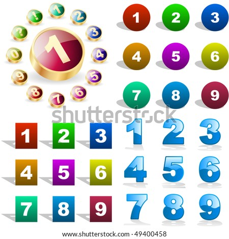 Number icons. Vector great collection.