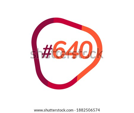 number 640 image design  640
