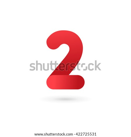 number 2 logo icon design