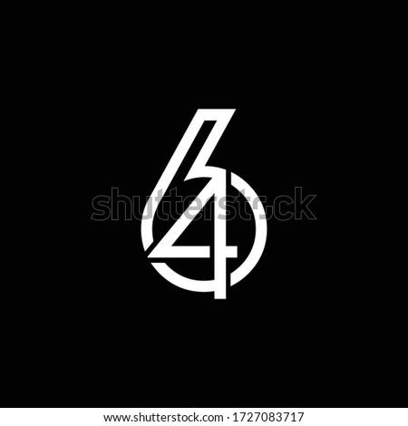 number 64 logo icon design