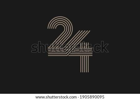 number 24 logo  monogram number
