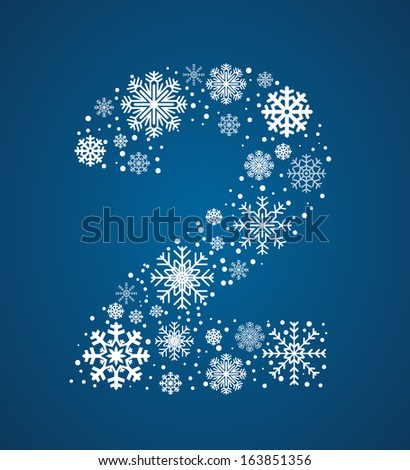 number 2 made from frosty