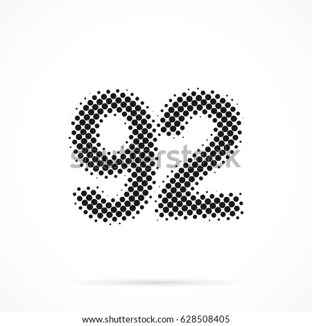 number ninety two  92 in