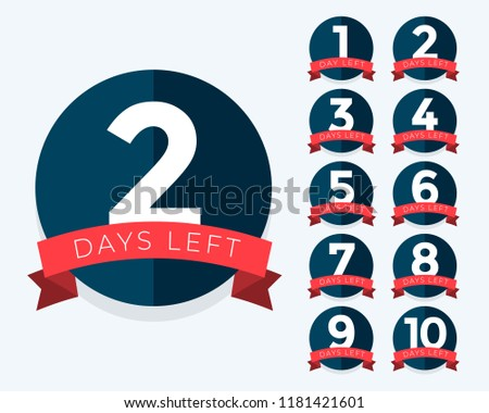 number of days left badge counter