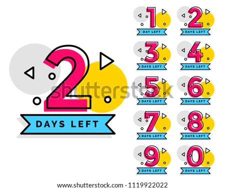 number of days left badge for sale or promotion