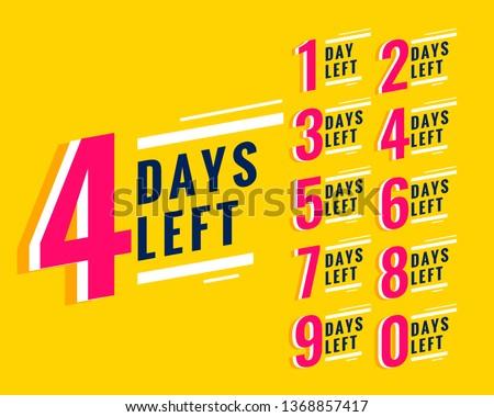 number of days left banner for