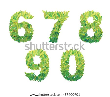 Number of leaves: 6 7 8 9 0  leaves (leafs) of the tree type