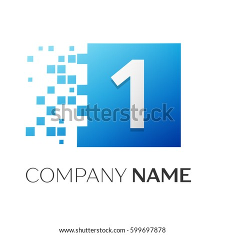 number one vector logo symbol