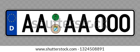 number plate vehicle
