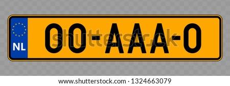 Number plate. Vehicle registration plates of Netherlands