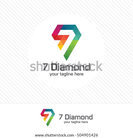 number seven and diamond logo