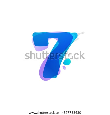 number seven logo with