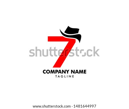 number seven or 7 with hat logo