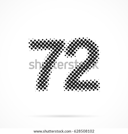 number seventy two  72 in