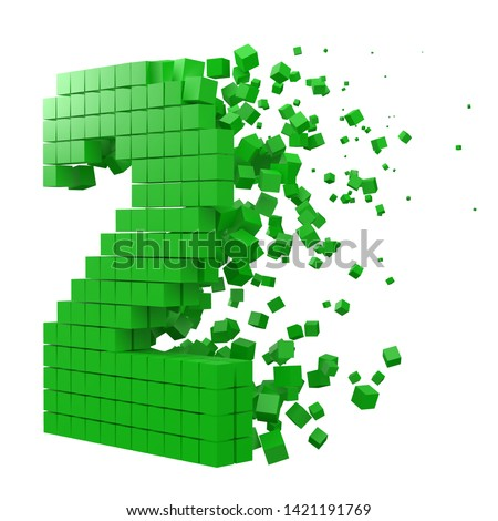 number 2 shaped data block