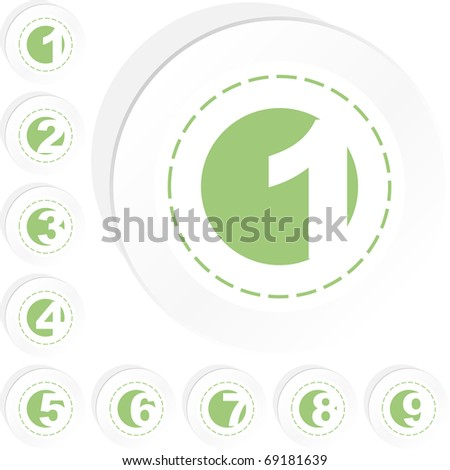 Number sign collection. Vector set.