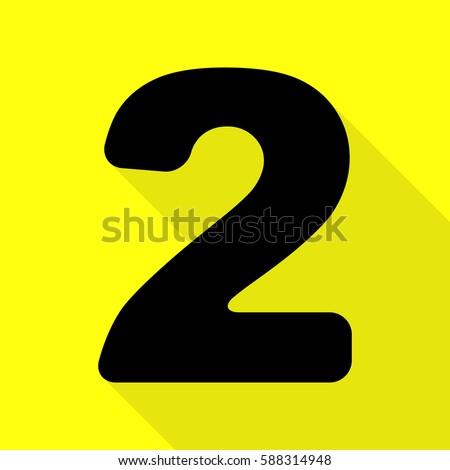 number 2 sign design template