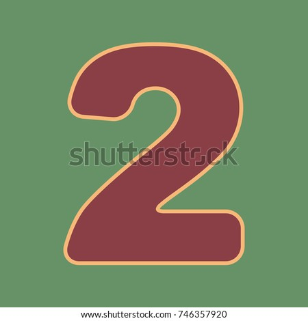 number 2 sign design template