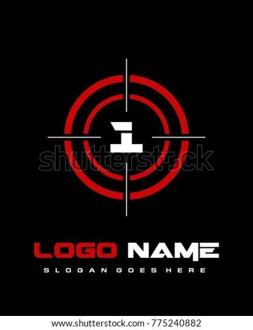 number 1 target logo template