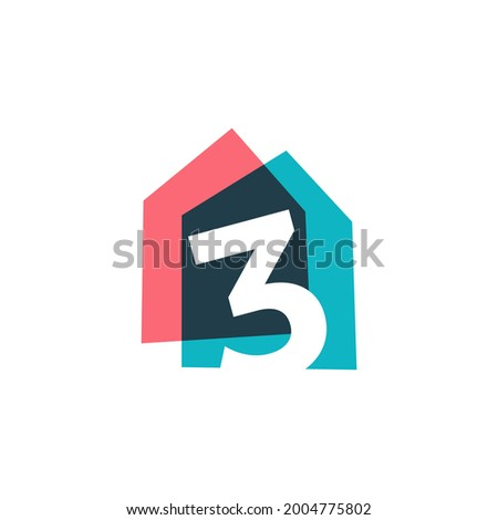 number three 3 house home
