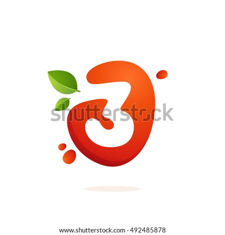 number three logo in fresh