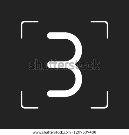 number three  numeral  simple