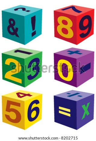 Number toys in cube shape