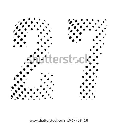 number twenty seven  27 in