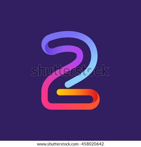 number two logo formed by