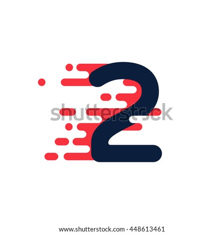 number two logo with fast speed
