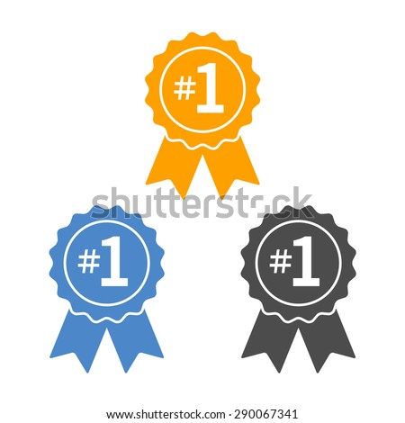number  1 winner ribbon award