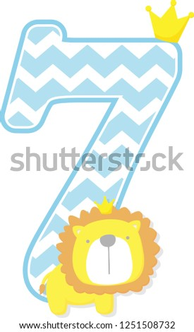 number 7 with chevron pattern