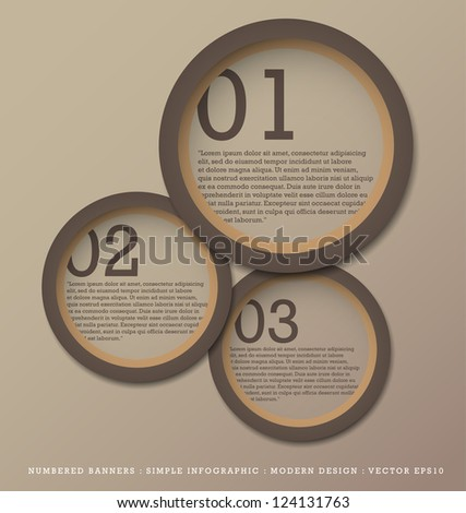 Numbered Banners Modern Design template used for infographics graphic or website layout vector