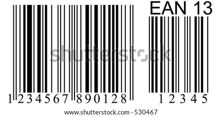 numbered barcode- not real and copyright